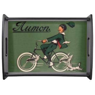 ヴィンテージのAumonの自転車広告 トレー