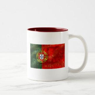 ヴィンテージのBandeira Portuguesaのpor Fás deポルトガル ツートーンマグカップ