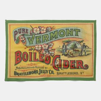 ヴィンテージのBrattleboroのゼリーによって沸かされるりんご酒ヴァーモント キッチンタオル