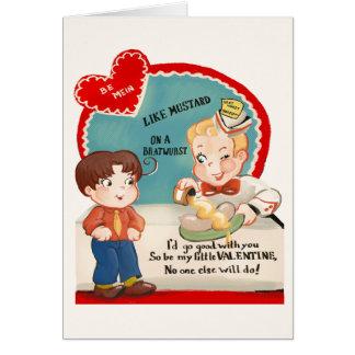 ヴィンテージのBratwurstのソーセージのバレンタインデーカード カード
