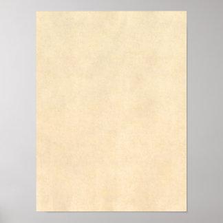 ヴィンテージのBuckskinのタンの革羊皮紙のテンプレート ポスター