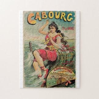 ヴィンテージのCabourg (カルバドス、ノルマンディー)旅行広告 ジグソーパズル
