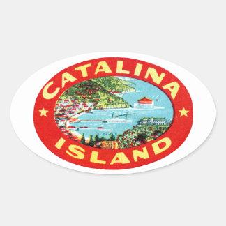 ヴィンテージのCatalinaの島カリフォルニア 楕円形シール