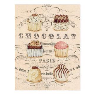 ヴィンテージのChocolatの…郵便はがき ポストカード