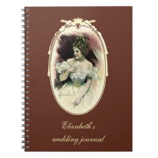ヴィンテージのChristyの女の子、旧式な花嫁のポートレート ノートブック