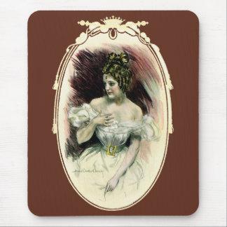 ヴィンテージのChristyの女の子、旧式な花嫁のポートレート マウスパッド