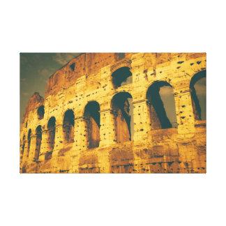 ヴィンテージのcolosseumローマイタリア キャンバスプリント