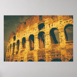 ヴィンテージのcolosseumローマイタリア ポスター
