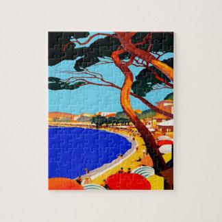 ヴィンテージのCote d'Azurのフランス人旅行 ジグソーパズル