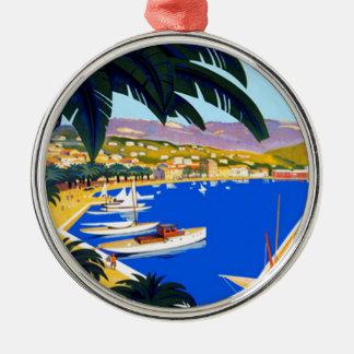 ヴィンテージのCote d'Azur旅行 メタルオーナメント
