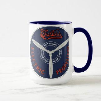 ヴィンテージのCurtissの電気プロペラのマグ マグカップ