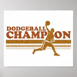 ヴィンテージのDodgeballのチャンピオン ポスター