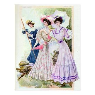 ヴィンテージのEdwardianの女性郵便はがき ポストカード