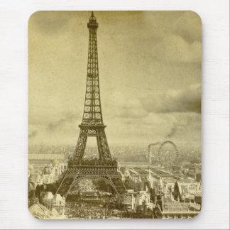 ヴィンテージのEifelタワーパリフランス1889年 マウスパッド