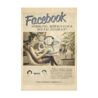 ヴィンテージのFacebookのキャンバス キャンバスプリント