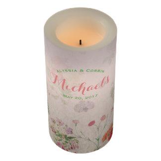 ヴィンテージのFlameless花のピンクの結婚披露宴 LEDキャンドル