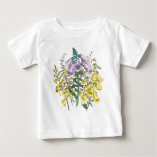 ヴィンテージのFoxgloveのイラストレーション ベビーTシャツ