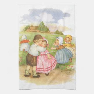 ヴィンテージのGeorgie Porgieのマザー・グースの童謡 キッチンタオル