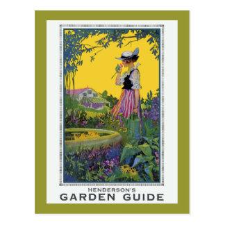 ヴィンテージのHendersonの庭ガイド ポストカード
