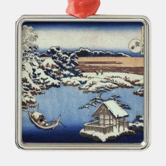 ヴィンテージのHokusaiの日本のなクリスマスのオーナメント メタルオーナメント