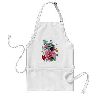 ヴィンテージのHollyhockの夏の花の花束 スタンダードエプロン