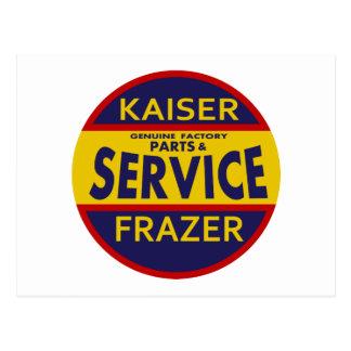 ヴィンテージのKaiser Frazerサービス印の赤か青 ポストカード