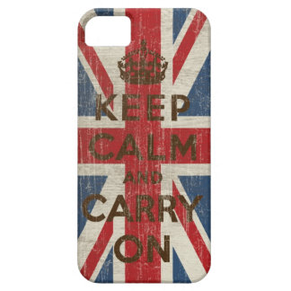 ヴィンテージのKeep Calm and Carry On iPhone SE/5/5s ケース