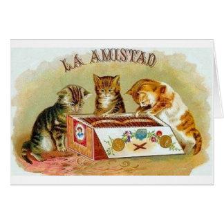 ヴィンテージのLaのAmistadの子ネコのシガーの広告のメッセージカード カード