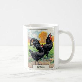 ヴィンテージのLaのFlecheの鶏 コーヒーマグカップ