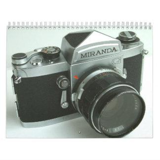 ヴィンテージのMiranda G 35mm SLRのカメラのカレンダー2013年 カレンダー
