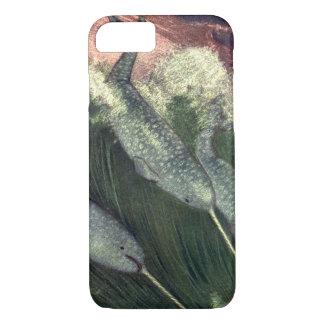 ヴィンテージのNarwhalsのクジラ、海洋生物の海動物 iPhone 8/7ケース