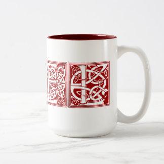 ヴィンテージのNoelのクリスマスのマグ ツートーンマグカップ