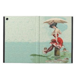ヴィンテージのOceanビクトリアンな浸る美しいの女性 iPad Airケース