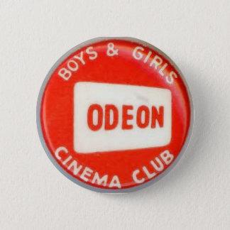 ヴィンテージのOdeonの映画館の男の子および女の子クラブ 5.7cm 丸型バッジ