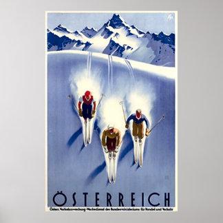 ヴィンテージのÖsterreichのスキー ポスター