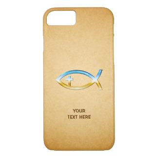 ヴィンテージのpapirusのキリスト教の魚の記号 iPhone 8/7ケース