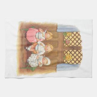 ヴィンテージのPeaseのポリッジの熱い子供の童謡 キッチンタオル