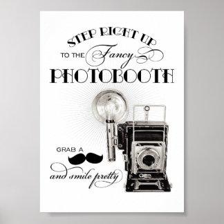 ヴィンテージのPhotoboothの印|の結婚披露宴のプリント ポスター