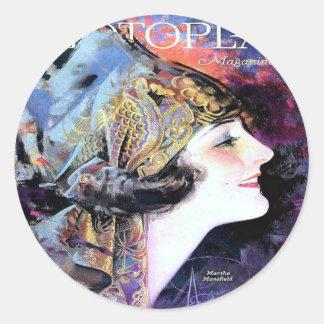 ヴィンテージのPhotoplayのフィルムの雑誌カバー1923年 ラウンドシール