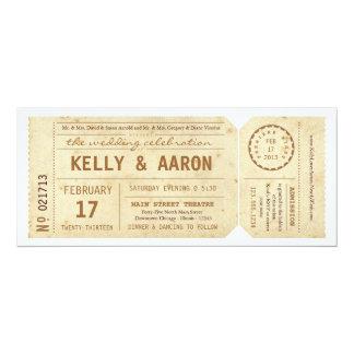 ヴィンテージのPlaybillの劇場チケットの結婚式招待状 カード