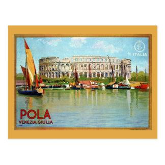 ヴィンテージのPolaのプーラのローマの劇場のイタリアンな旅行 ポストカード