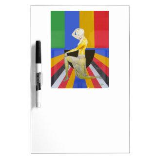 ヴィンテージのpopartのアール・デコのダンサーのデザイン ホワイトボード