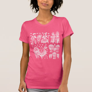 ヴィンテージのPyrexパターン- Butterprintの白 Tシャツ