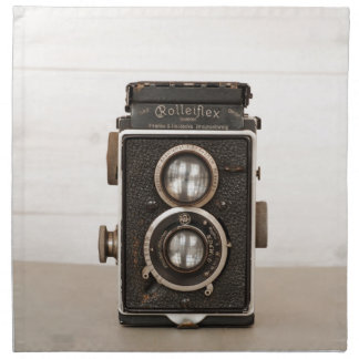 ヴィンテージのRolleiflex対レンズのカメラ ナプキンクロス