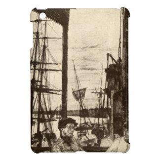 ヴィンテージのRotherhitheの船の波止場の航海のなホイスラー iPad Mini カバー