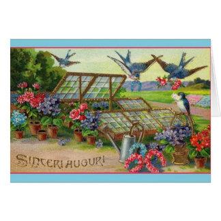 ヴィンテージのSinceri Auguriのイタリアンなバースデー・カード カード