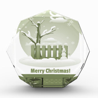 ヴィンテージのSnowyのメリークリスマスのグラフィック 表彰盾