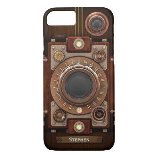 ヴィンテージのSteampunkのカメラ#1C iPhone 8/7ケース