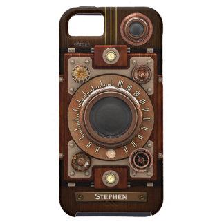 ヴィンテージのSteampunkのカメラ#1C iPhone SE/5/5s ケース