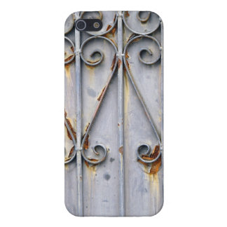 ヴィンテージのsteampunkのパターン(の模様が)あるな金属の素朴な上品 iPhone SE/5/5sケース